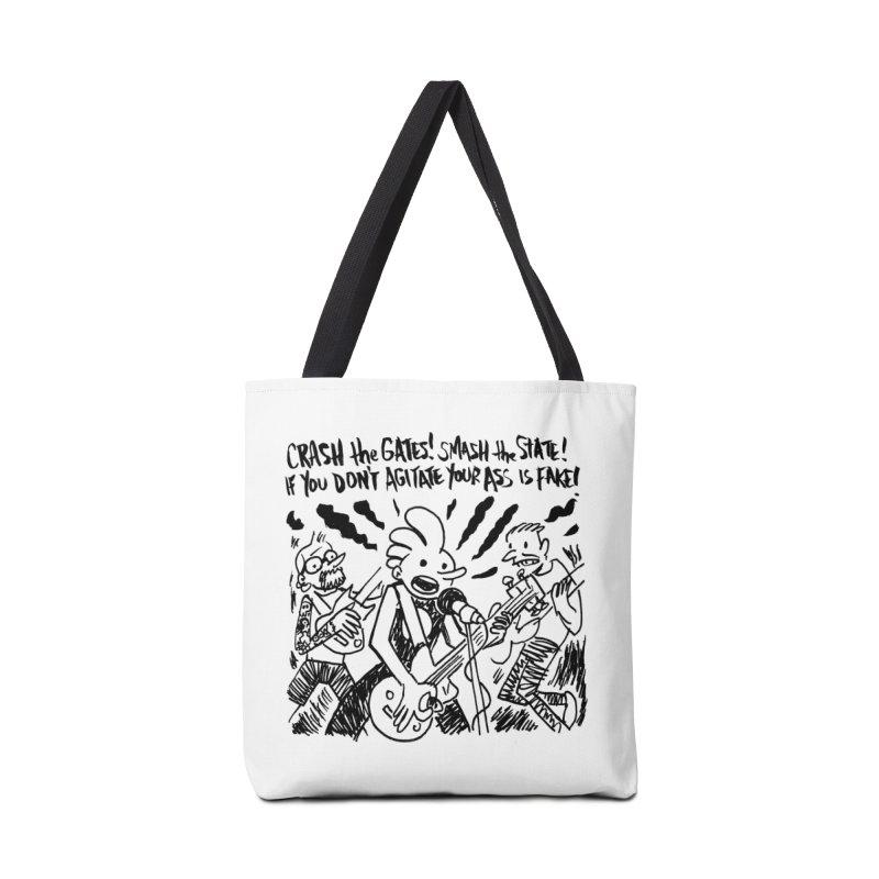 CRASH THE GATES Accessories Tote Bag Bag by Wander Lane Threadless Shop