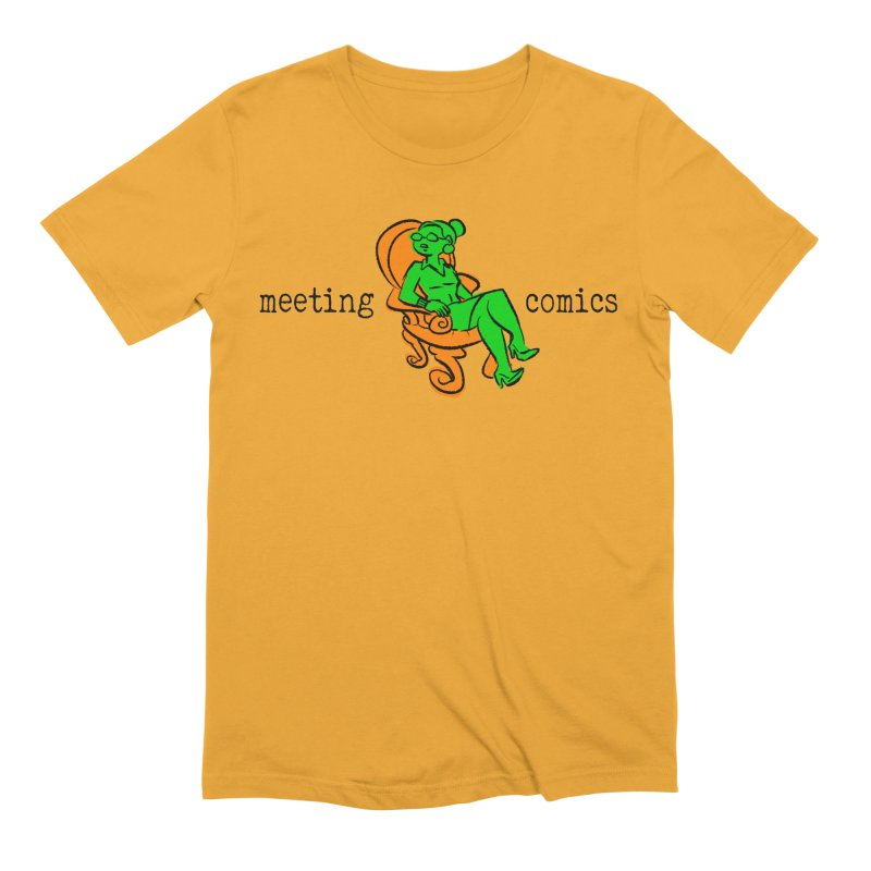 Meeting Comics: Val in the Chair Men's Extra Soft T-Shirt by Wander Lane Threadless Shop