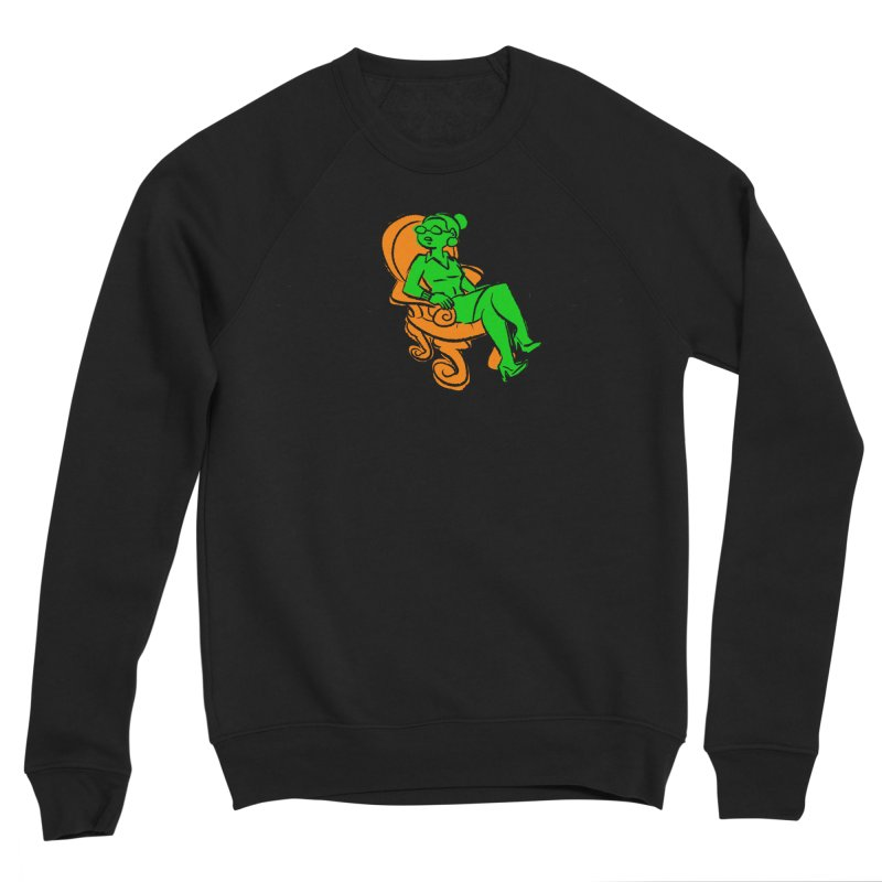 Meeting Comics: Val in the Chair Men's Sponge Fleece Sweatshirt by Wander Lane Threadless Shop