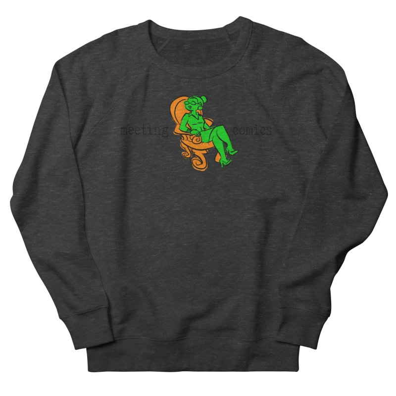 Meeting Comics: Val in the Chair Men's French Terry Sweatshirt by Wander Lane Threadless Shop