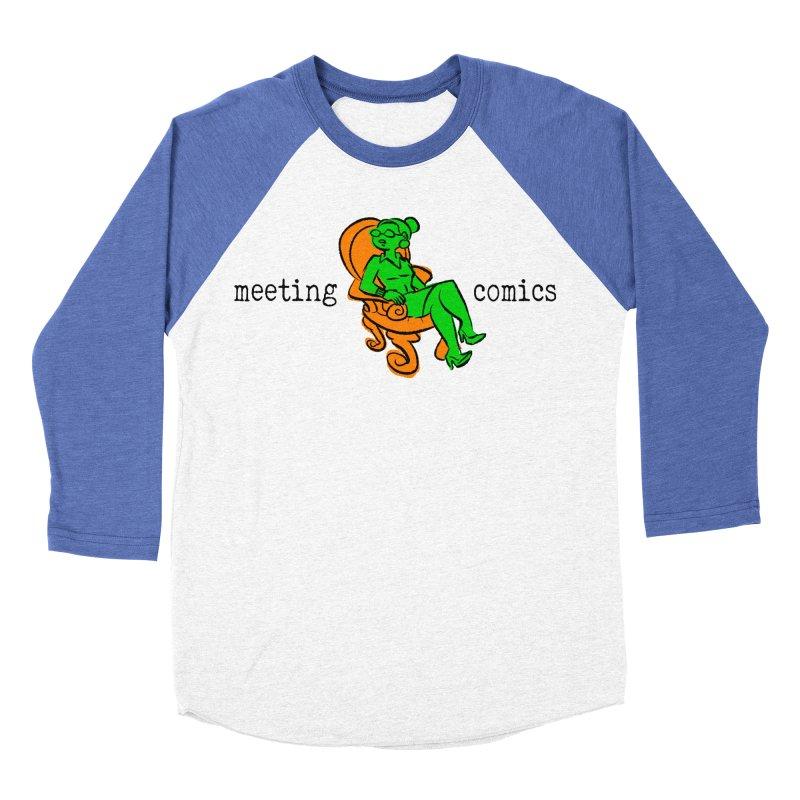 Meeting Comics: Val in the Chair Women's Baseball Triblend Longsleeve T-Shirt by Wander Lane Threadless Shop