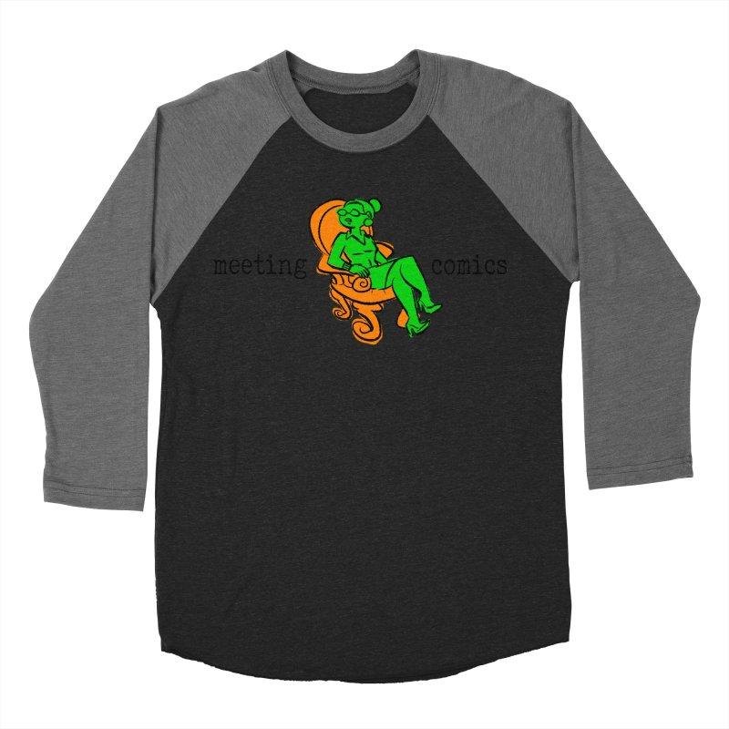 Meeting Comics: Val in the Chair Men's Baseball Triblend Longsleeve T-Shirt by Wander Lane Threadless Shop