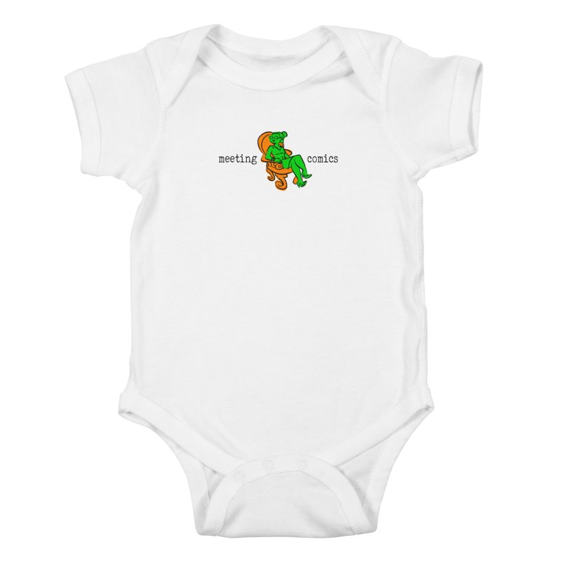 Meeting Comics: Val in the Chair Kids Baby Bodysuit by Wander Lane Threadless Shop