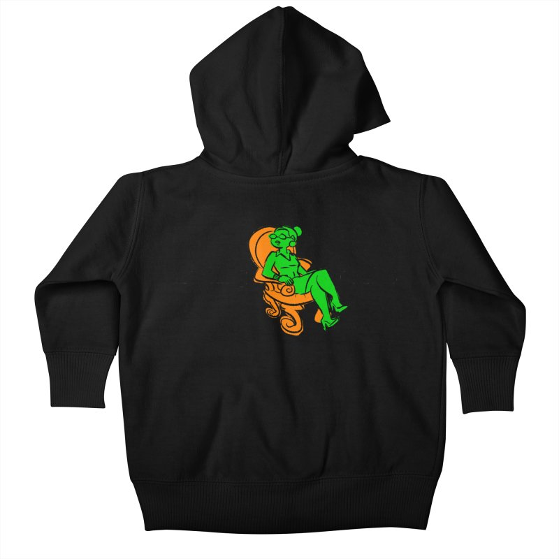 Meeting Comics: Val in the Chair Kids Baby Zip-Up Hoody by Wander Lane Threadless Shop