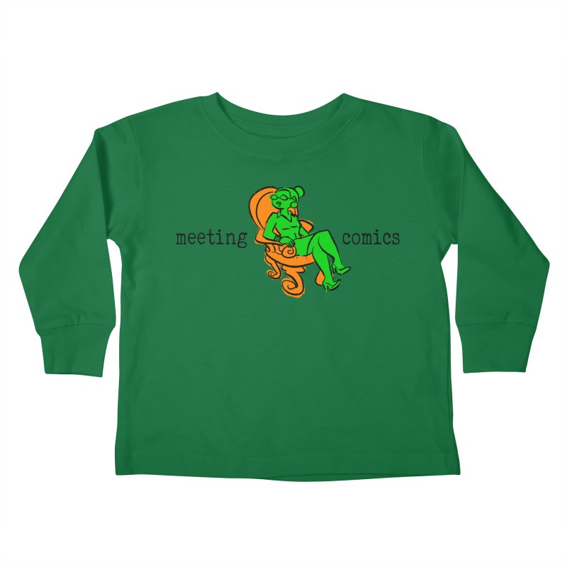 Meeting Comics: Val in the Chair Kids Toddler Longsleeve T-Shirt by Wander Lane Threadless Shop