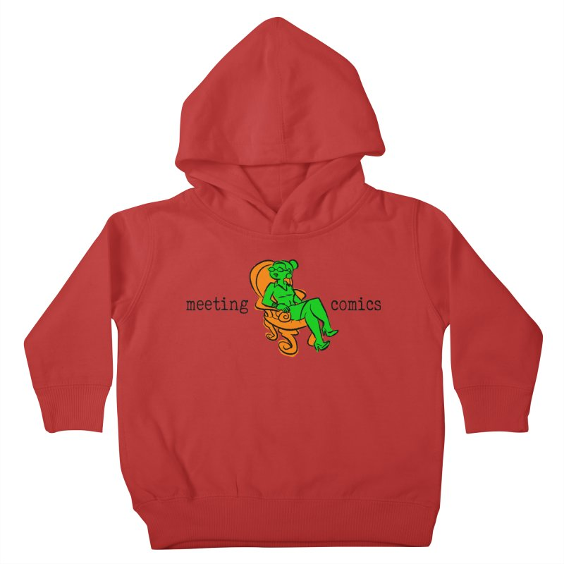 Meeting Comics: Val in the Chair Kids Toddler Pullover Hoody by Wander Lane Threadless Shop