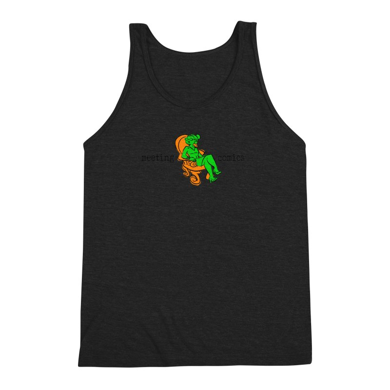 Meeting Comics: Val in the Chair Men's Triblend Tank by Wander Lane Threadless Shop
