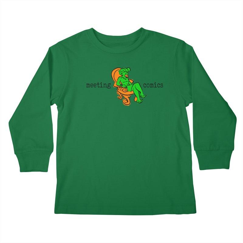 Meeting Comics: Val in the Chair Kids Longsleeve T-Shirt by Wander Lane Threadless Shop