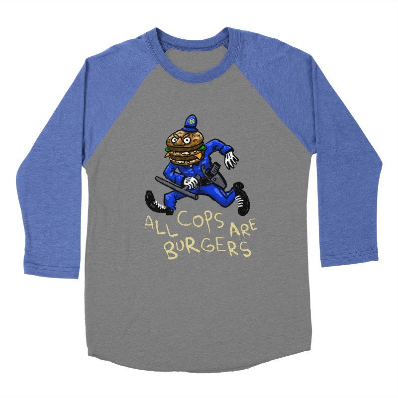 All Cops Are Burgers Women's Baseball Triblend Longsleeve T-Shirt by Wander Lane Threadless Shop