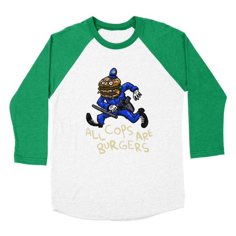 All Cops Are Burgers Men's Baseball Triblend Longsleeve T-Shirt by Wander Lane Threadless Shop