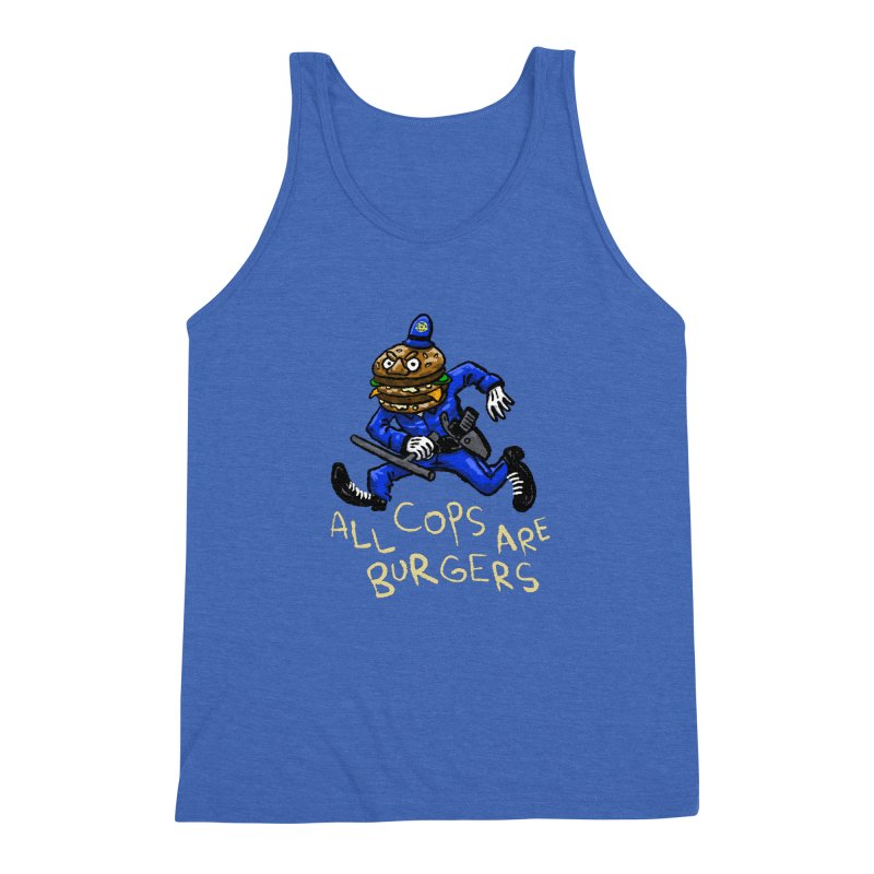 All Cops Are Burgers Men's Triblend Tank by Wander Lane Threadless Shop
