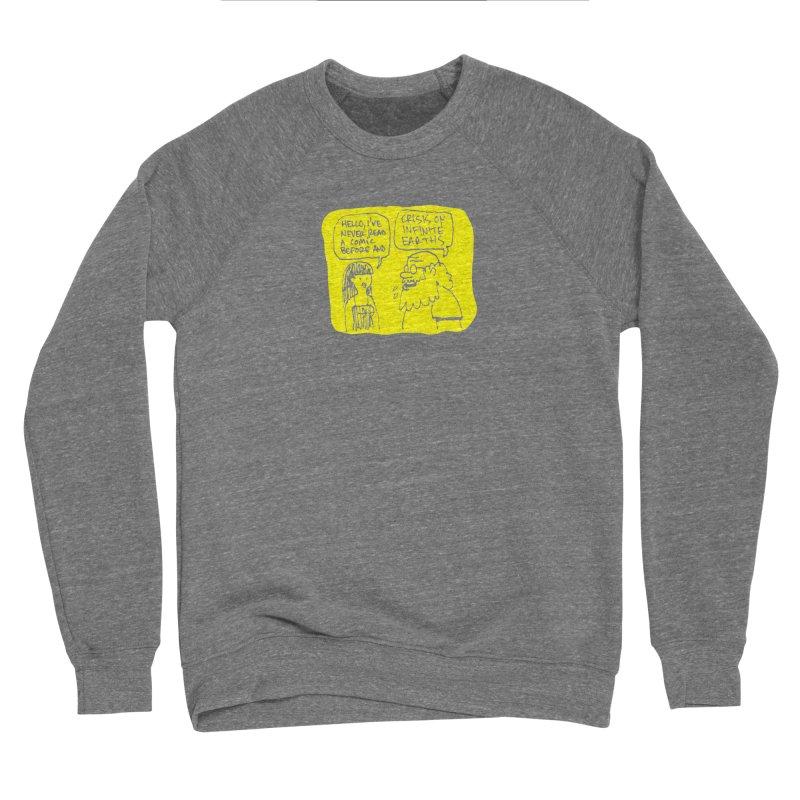 Crisis on Infinite Earths Men's Sponge Fleece Sweatshirt by Wander Lane Threadless Shop