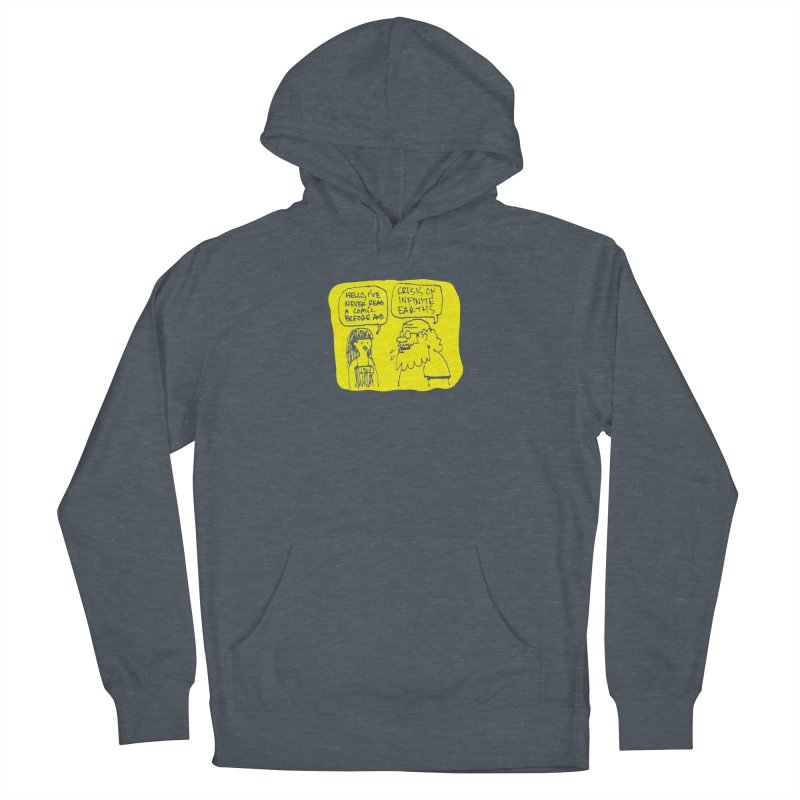 Crisis on Infinite Earths Men's French Terry Pullover Hoody by Wander Lane Threadless Shop