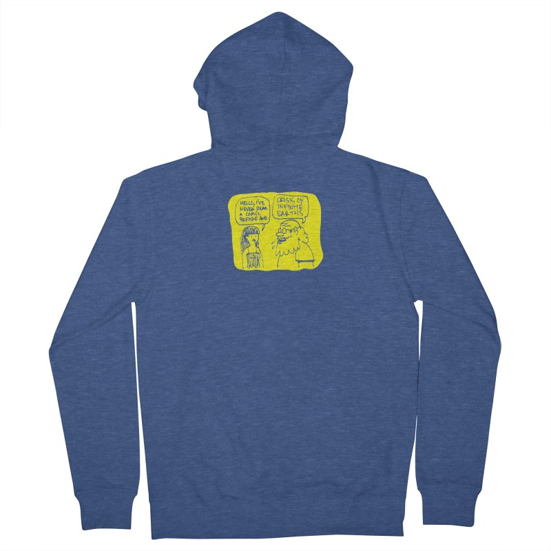 Crisis on Infinite Earths Men's French Terry Zip-Up Hoody by Wander Lane Threadless Shop