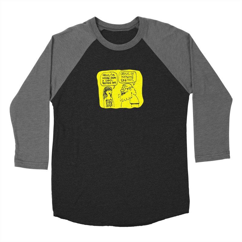 Crisis on Infinite Earths Men's Baseball Triblend Longsleeve T-Shirt by Wander Lane Threadless Shop