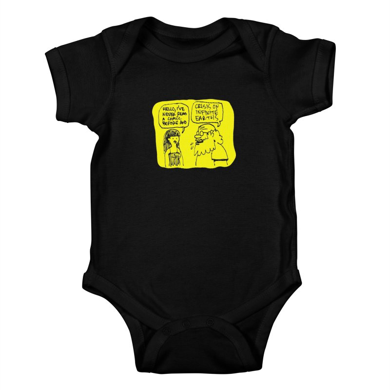 Crisis on Infinite Earths Kids Baby Bodysuit by Wander Lane Threadless Shop