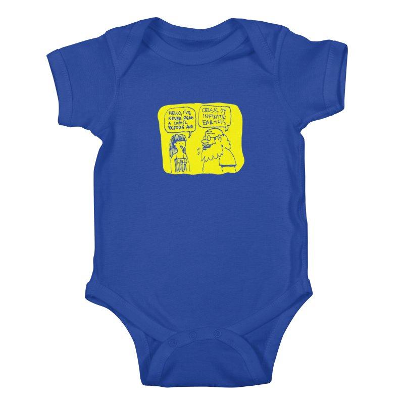 Crisis on Infinite Earths Kids Baby Bodysuit by Wander Lane Threadless Shop