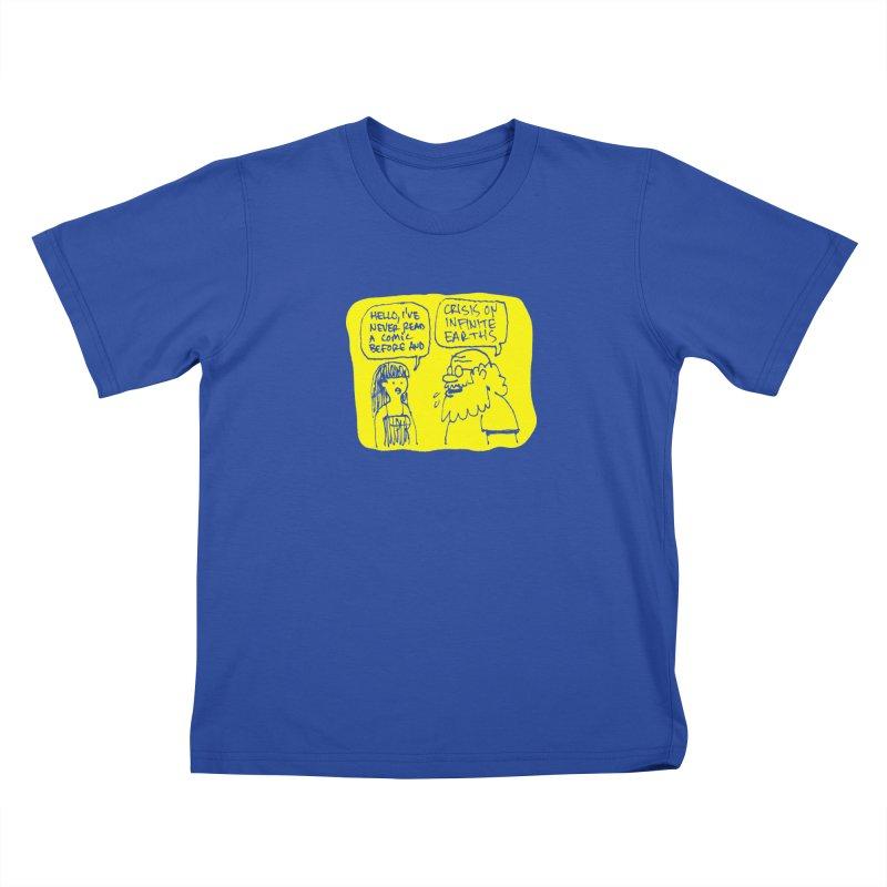 Crisis on Infinite Earths Kids T-Shirt by Wander Lane Threadless Shop