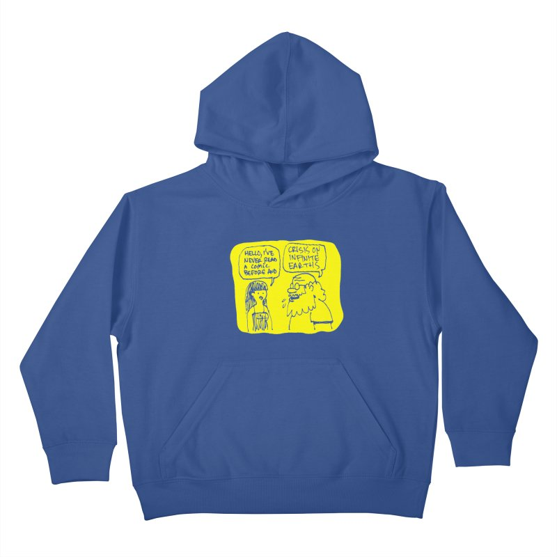 Crisis on Infinite Earths Kids Pullover Hoody by Wander Lane Threadless Shop