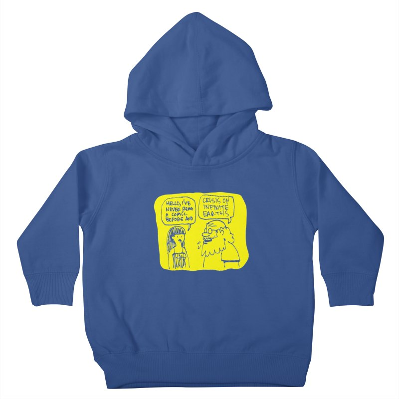 Crisis on Infinite Earths Kids Toddler Pullover Hoody by Wander Lane Threadless Shop