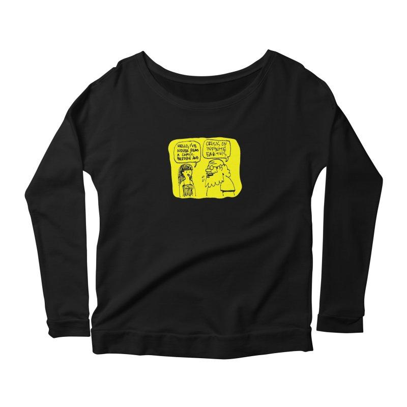 Crisis on Infinite Earths Women's Scoop Neck Longsleeve T-Shirt by Wander Lane Threadless Shop