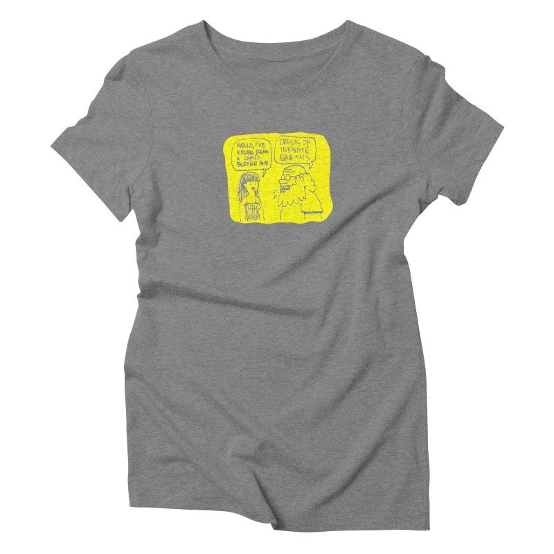 Crisis on Infinite Earths Women's Triblend T-Shirt by Wander Lane Threadless Shop