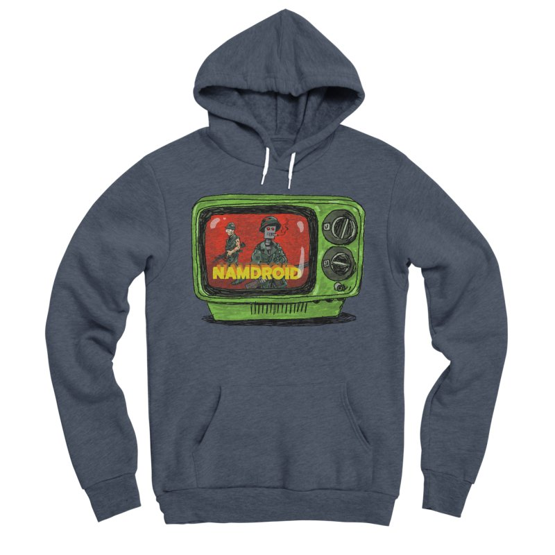 Meeting Comics: NAMDROID Men's Sponge Fleece Pullover Hoody by Wander Lane Threadless Shop
