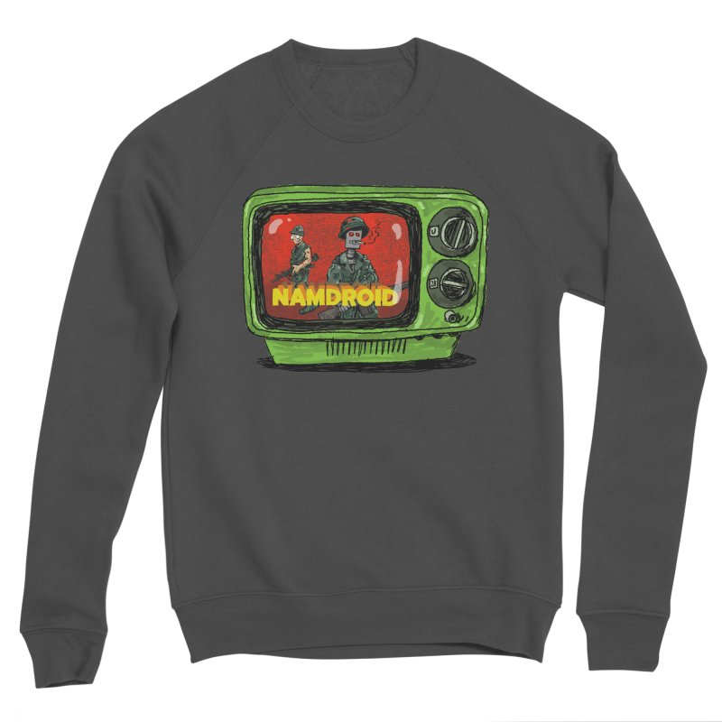 Meeting Comics: NAMDROID Women's Sponge Fleece Sweatshirt by Wander Lane Threadless Shop