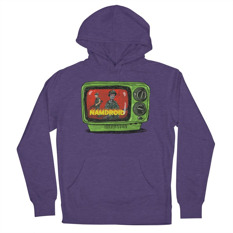 Meeting Comics: NAMDROID Women's French Terry Pullover Hoody by Wander Lane Threadless Shop