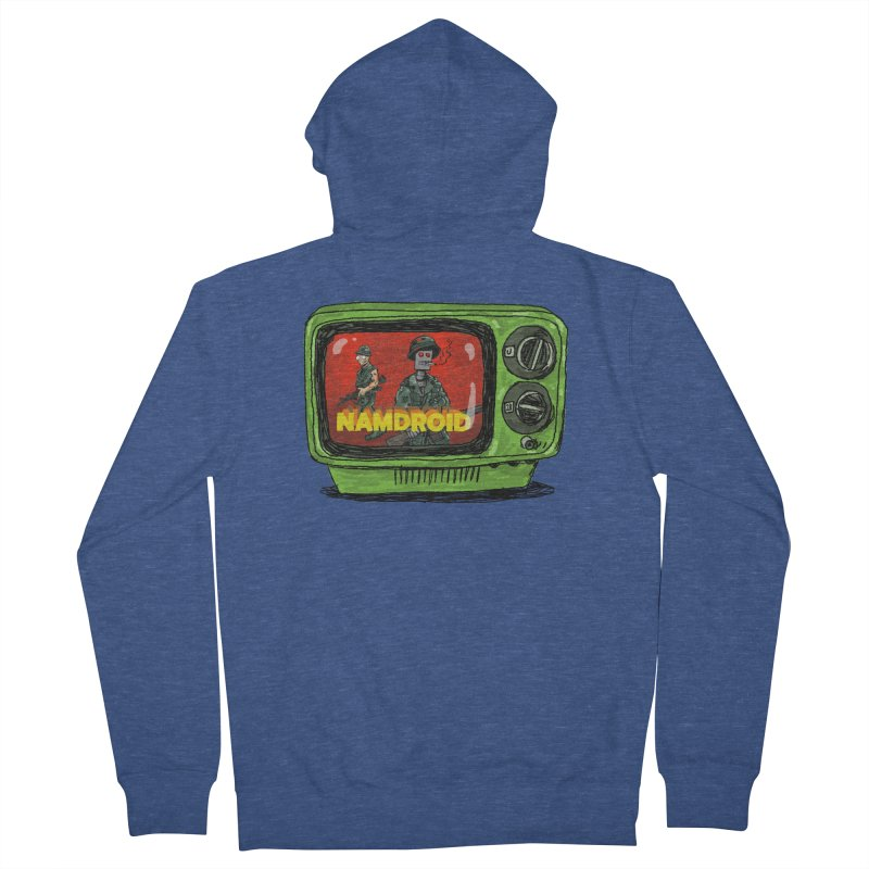 Meeting Comics: NAMDROID Women's French Terry Zip-Up Hoody by Wander Lane Threadless Shop