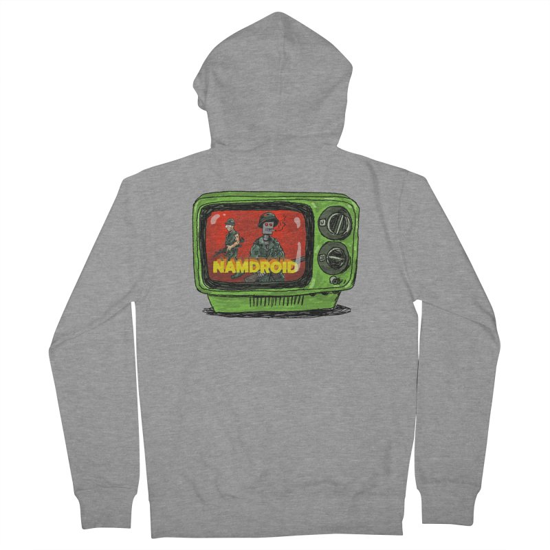 Meeting Comics: NAMDROID Men's French Terry Zip-Up Hoody by Wander Lane Threadless Shop
