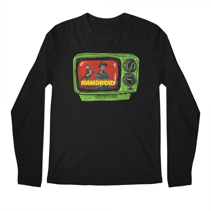 Meeting Comics: NAMDROID Men's Regular Longsleeve T-Shirt by Wander Lane Threadless Shop