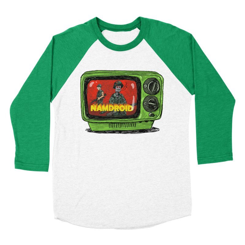 Meeting Comics: NAMDROID Women's Baseball Triblend Longsleeve T-Shirt by Wander Lane Threadless Shop