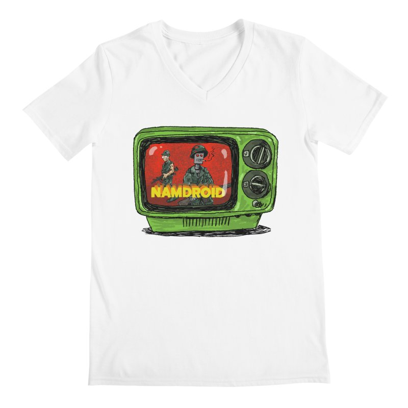 Meeting Comics: NAMDROID Men's Regular V-Neck by Wander Lane Threadless Shop