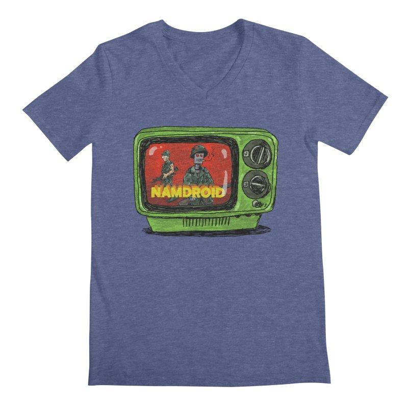 Meeting Comics: NAMDROID Men's Regular V-Neck by Wander Lane Threadless Shop