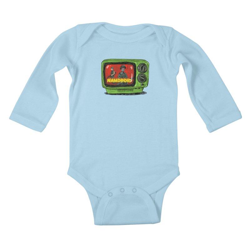 Meeting Comics: NAMDROID Kids Baby Longsleeve Bodysuit by Wander Lane Threadless Shop