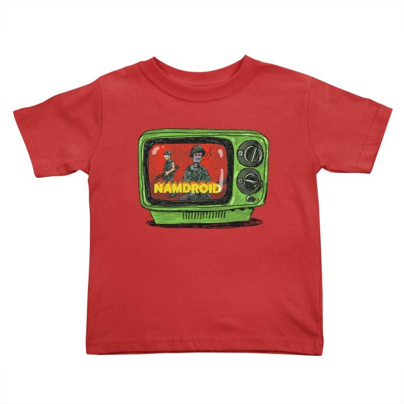 Meeting Comics: NAMDROID Kids Toddler T-Shirt by Wander Lane Threadless Shop