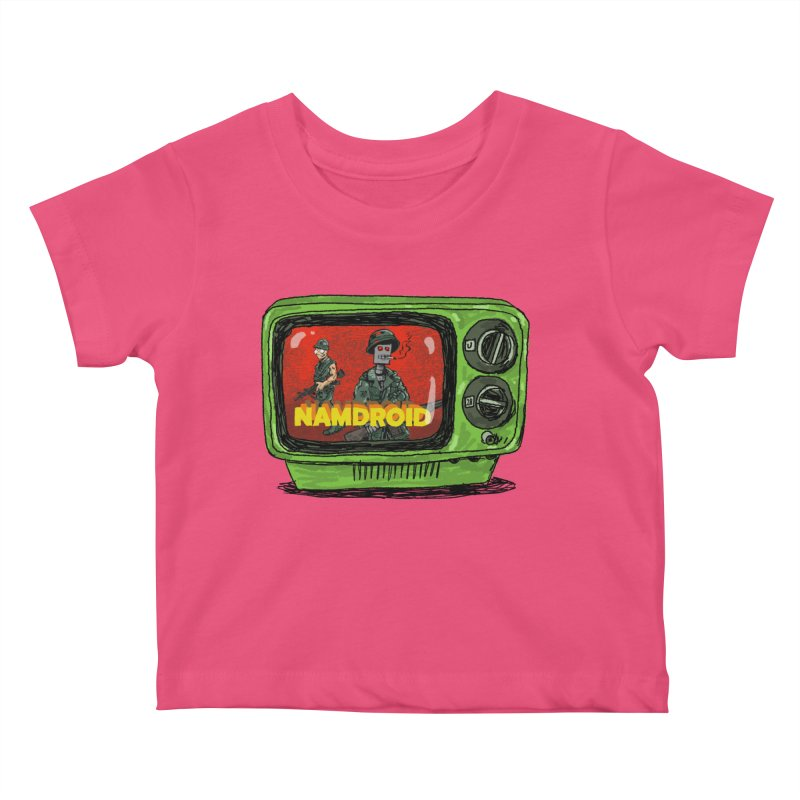 Meeting Comics: NAMDROID Kids Baby T-Shirt by Wander Lane Threadless Shop