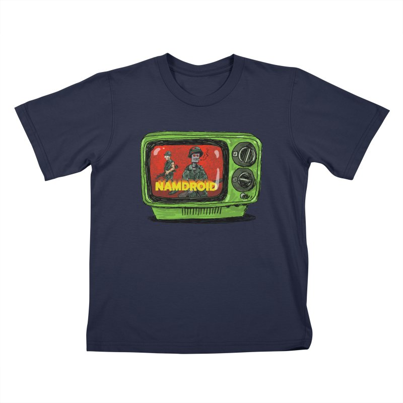 Meeting Comics: NAMDROID Kids T-Shirt by Wander Lane Threadless Shop