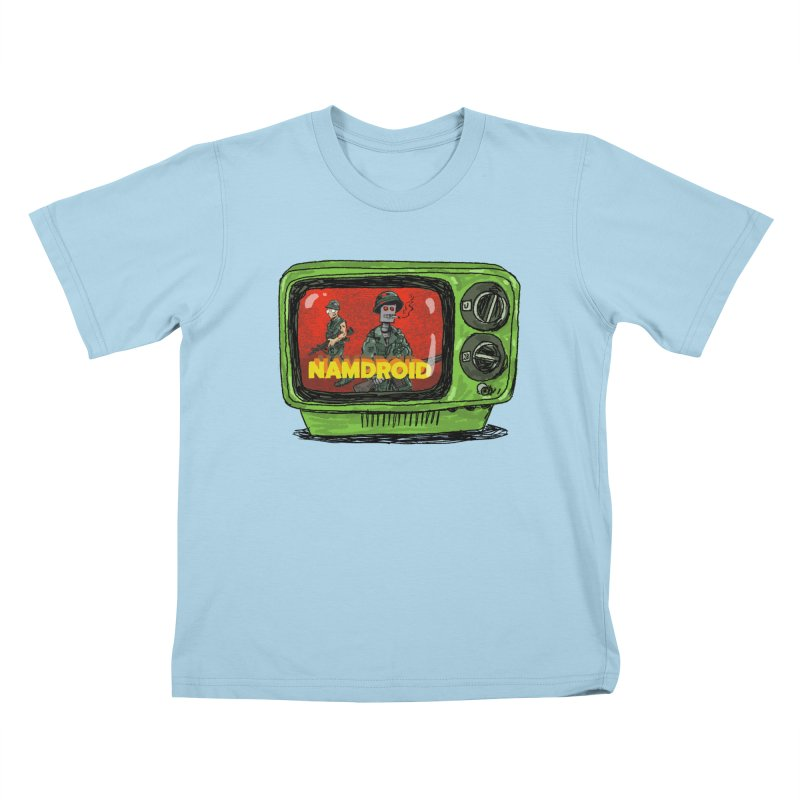 Meeting Comics: NAMDROID Kids T-Shirt by Wander Lane Threadless Shop