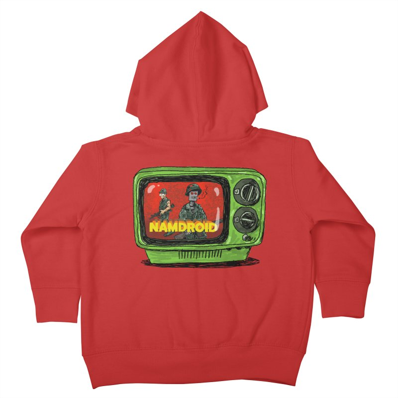 Meeting Comics: NAMDROID Kids Toddler Zip-Up Hoody by Wander Lane Threadless Shop