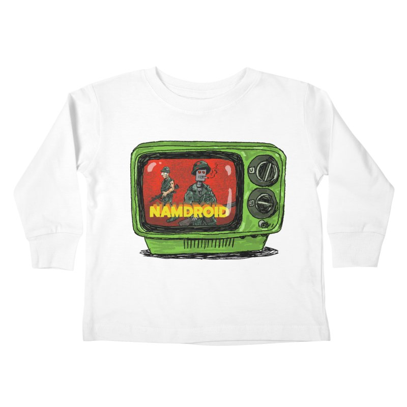 Meeting Comics: NAMDROID Kids Toddler Longsleeve T-Shirt by Wander Lane Threadless Shop