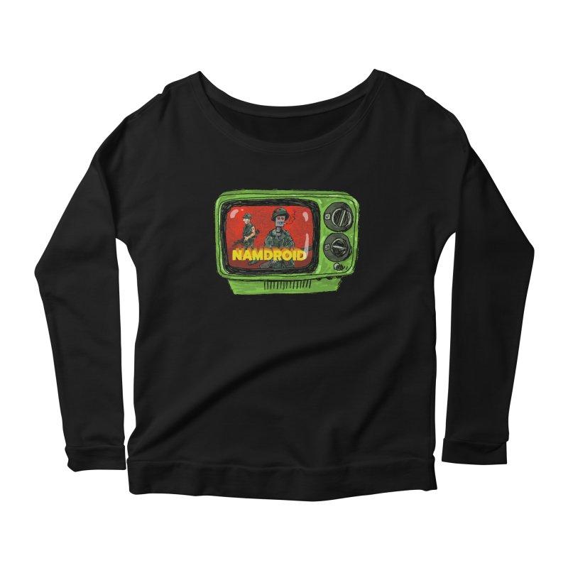 Meeting Comics: NAMDROID Women's Scoop Neck Longsleeve T-Shirt by Wander Lane Threadless Shop