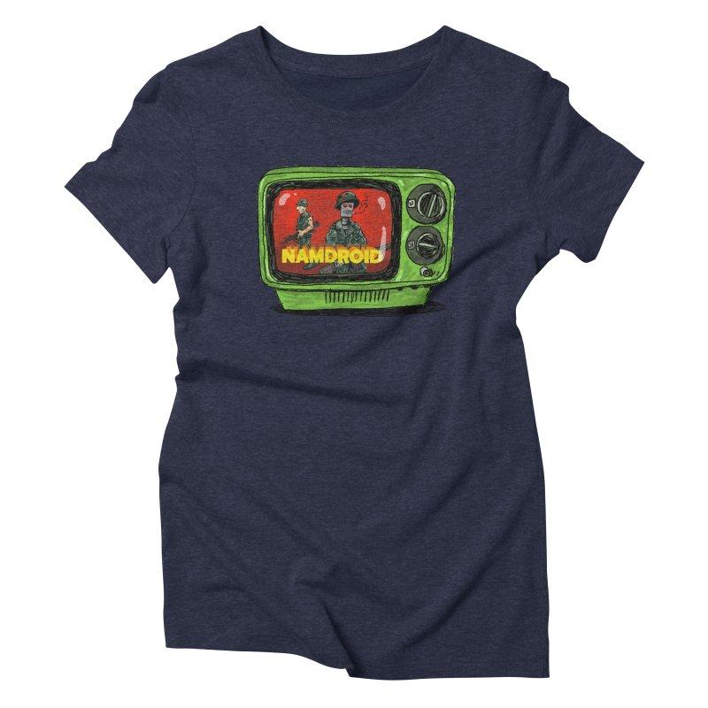 Meeting Comics: NAMDROID Women's Triblend T-Shirt by Wander Lane Threadless Shop