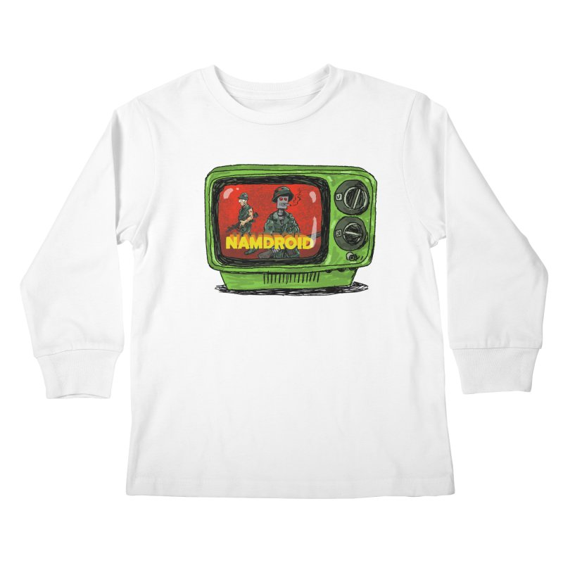 Meeting Comics: NAMDROID Kids Longsleeve T-Shirt by Wander Lane Threadless Shop