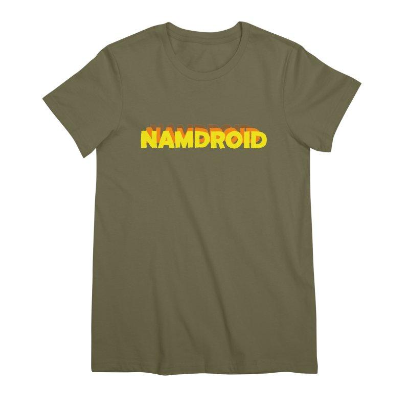 Meeting Comics: NAMDROID LOGO Women's Premium T-Shirt by Wander Lane Threadless Shop