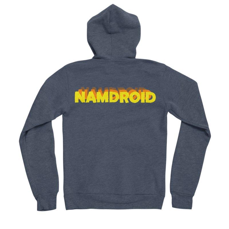 Meeting Comics: NAMDROID LOGO Men's Sponge Fleece Zip-Up Hoody by Wander Lane Threadless Shop