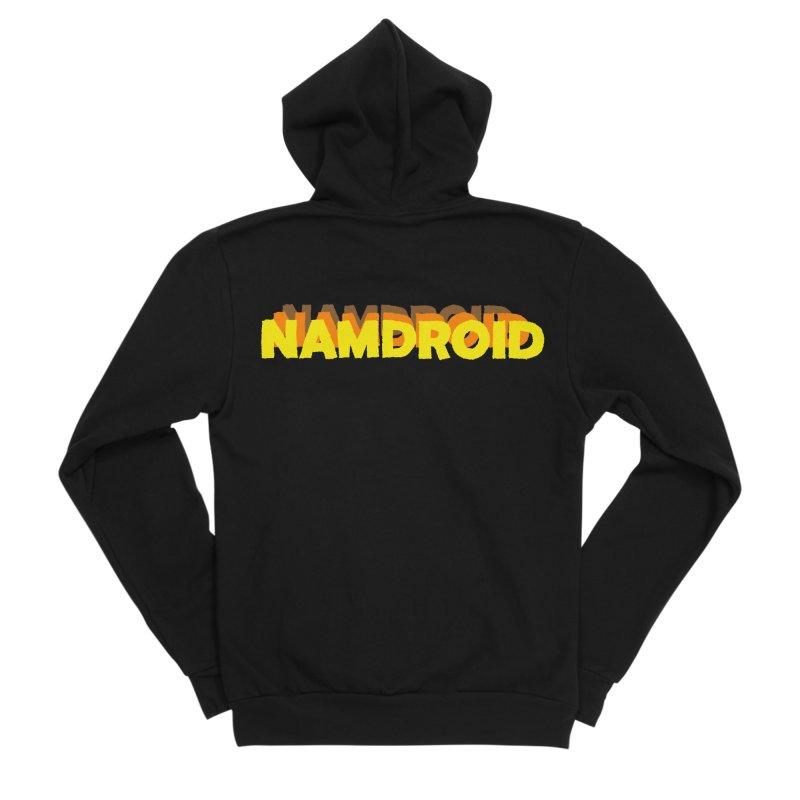 Meeting Comics: NAMDROID LOGO Women's Sponge Fleece Zip-Up Hoody by Wander Lane Threadless Shop
