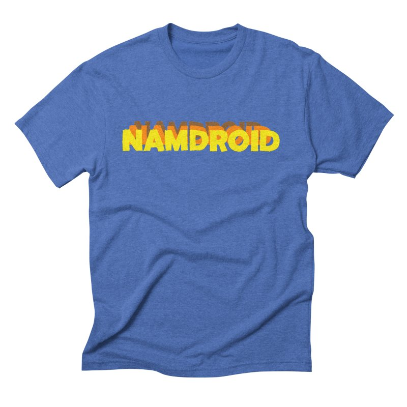 Meeting Comics: NAMDROID LOGO in Men's Triblend T-Shirt Blue Triblend by Wander Lane Threadless Shop