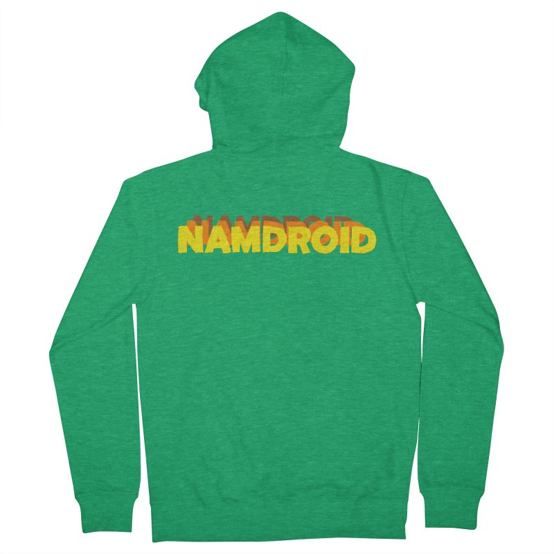 Meeting Comics: NAMDROID LOGO Men's French Terry Zip-Up Hoody by Wander Lane Threadless Shop